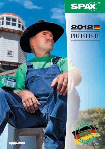 Der aktuelle SPAX Katalog 2012 - 1aSchrauben.de