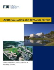 2010 evaluation and appraisal report - FIU Facilities Management ...