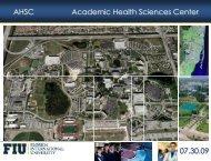 Ahsc academic health sciences center - FIU Facilities Management ...