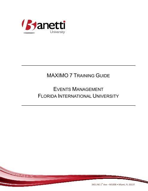 Maximo Training Manual - FIU Facilities Management - Florida ...