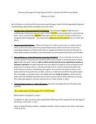 c. Payment & Performance Bonds - FIU Facilities Management