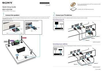 Quick Setup Guide BDV-HZ970W - One Call
