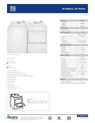 Specifications - Sears