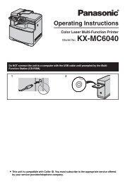 KXMC6040 - Operating Manuals for Panasonic Products - Panasonic