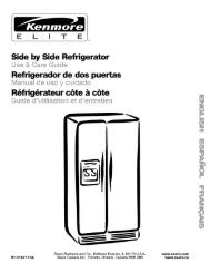 Side by Side Refrigerator - Sears