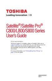 Satellite®/Satellite Pro® C800/L800/S800 Series ... - Amazon S3