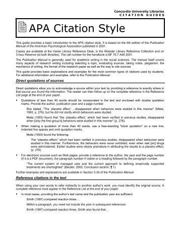 apa style citation for dummies