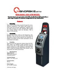 Mini-Bank 1800 Mandrake.ATM Product Brochure