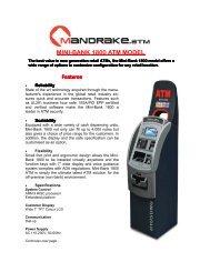 Mini-Bank 1800 Mandrake.ATM Product Brochure