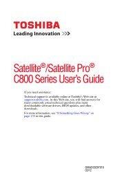 Satellite /Satellite Pro C800 Series User's Guide - CNET Content ...