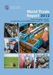 World Trade Report 2012 - World Trade Organization