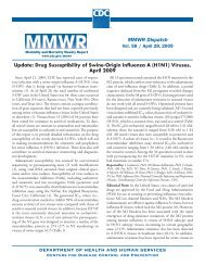 Drug Susceptibility of Swine-Origin Influenza A (H1N1) - Centers for ...