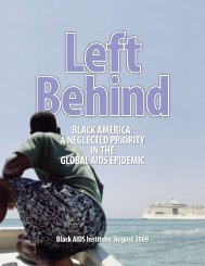 BLack america: a NegLected Priority iN the gLoBaL aidS ePidemic