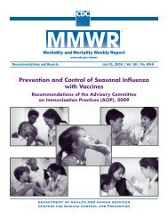 CDC, Prevention and Control of Seasonal Influenza with Vaccines ...