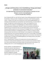 Bericht über den Besuch 2011 - ANU Hamburg