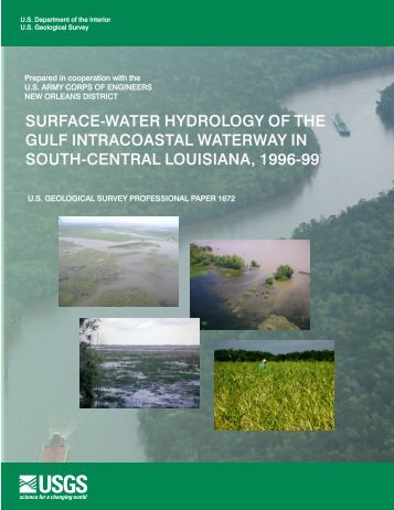 surface-water hydrology of the gulf intracoastal waterway in ... - USGS