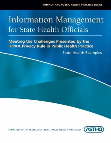 Information Management - Association of State and Territorial Health ...