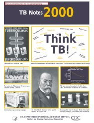 CDC History of Tuberculosis Control - Medical and Public Health ...
