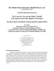 Model State Emergency Health Powers Act - Medical and Public ...