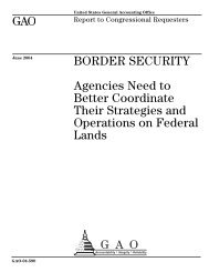 GAO-04-590 Border Security: Agencies Need to Better Coordinate ...
