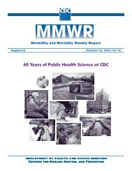 60 Years of Public Health Science at CDC - Medical and Public ...