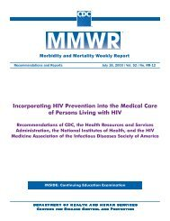 Incorporating HIV Prevention into the Medical Care of Persons ...