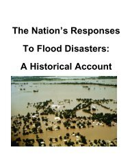 The Nation's Responses To Flood Disasters: A Historical Account