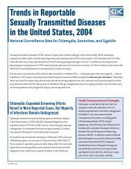 Trends in Reportable Sexually Transmitted Diseases in the United ...