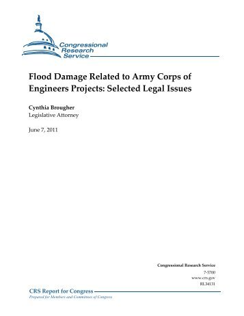 Flood Damage Related to Army Corps of Engineers Projects ...