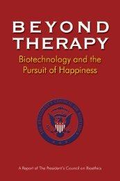 BEYOND THERAPY - Medical and Public Health Law Site