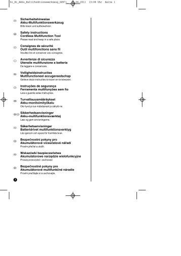 k Sicherheitshinweise Akku-Multifunktionswerkzeug t ... - Einhell