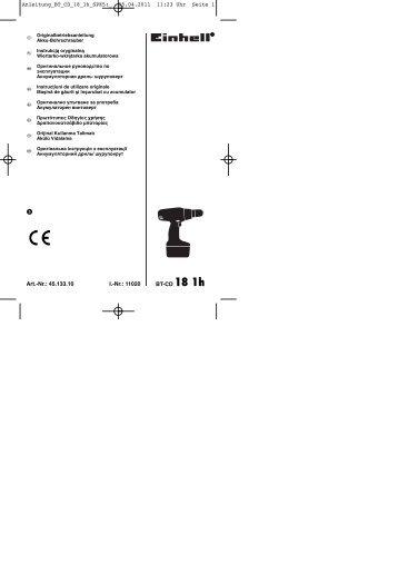 05.04.2011 11:23 Uhr Seite 1 - Einhell