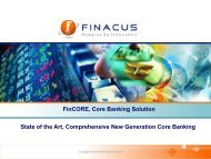 FinCORE, Core Banking Solution State of the Art, Comprehensive ...