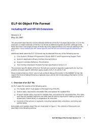ELF-64 Object File Format - HP