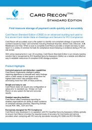 Card Recon Enterprise Edition - Application Transformation Solutions