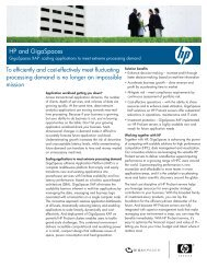 GigaSpaces on HP Proliant - Application Transformation Solutions ...