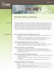 QRadar Log Manager - Application Transformation Solutions