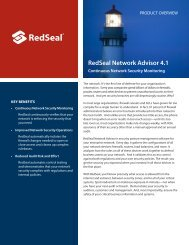 RedSeal Network Advisor 4.1 - HP