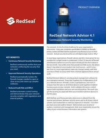 RedSeal Network Advisor 4.1 - HP