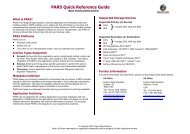 PARS Quick Reference Guide - HP