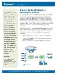 Signiant Content Distribution Management software