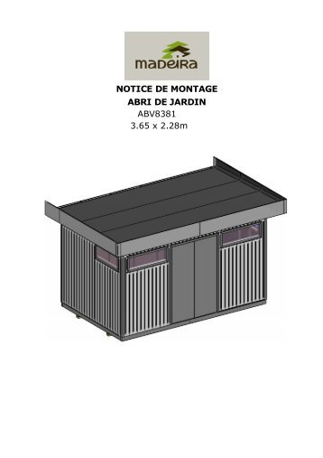 Carport monza due france abris - Notice de montage abri de jardin ...