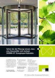 KT Energiespar-Kalkulator Sales Folder, D - Dorma