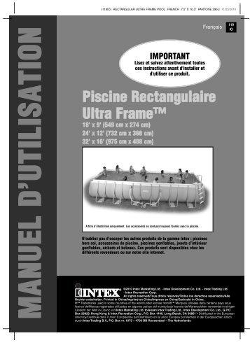 Piscine Rectangulaire Ultra Frame™ - Plantes et Jardins