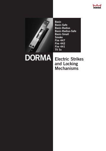 DORMA Electric Strikes and Locking Mechanisms