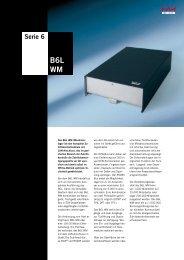Datenblatt B6L WM (DORMA Time + Access) (DTA) (MBB) (STA)