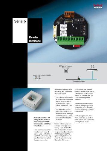 Serie 6 Reader Interface - Dorma