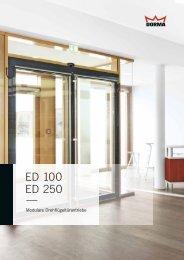 ED 100 / ED 250 Sales Folder, D - Dorma