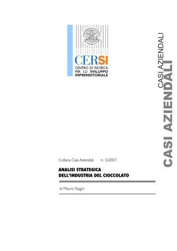 CASI AZIENDALI - Centri di Ricerca - Università Cattolica del Sacro ...