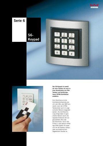 Serie 6 S6- Keypad - Dorma